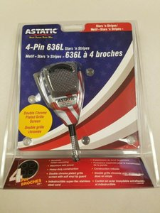 ASTATIC 636L AMERICAN FLAG STARS n STRIPES CB Ham Radio Microphone 4 Pin mic