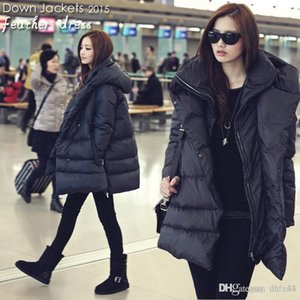 2018 hot new black navy blue down jackets casual style large size winter coats for womenMX190924