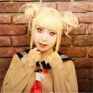 My Boku no Hero Academia Himiko Toga Light Blonde Ponytail Cosplay Wig