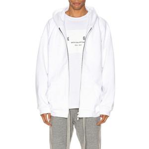 19FW FG sexto DIARIO COMPLETA Cardigan con capucha de la camiseta de la calle principal de la chaqueta con capucha Hombres Mujeres sólida simple capucha sudaderas con capucha de gran tamaño Outwear