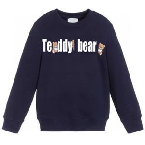Çocuk Giyim Sweatshirt Çocuk Moda Letter Baskı Kapüşonlular Casual Sweatshirt Erkekler Kızlar Moda Tişörtü Bebek Giyim