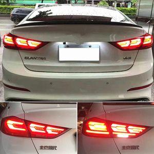 2Pcs Car Styling LED Tail Lamp For Hyundai Elantra 2017 2018 2019 DRL Tail Light Dynamic Signal Brake Reverse auto Accessories