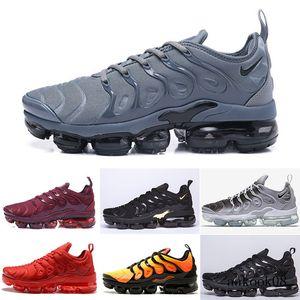 2019 TN PLUS Running Shoes For Men Women Black Speed Red White Anthracite Ultra White Black 2019 Best Designers Sneakers 40-46 Q2ESC