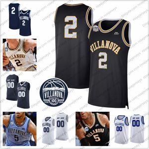 Coutume Wildcats de Villanova 2020 Basketball # 24 Jeremiah Robinson-Earl 2 Collin Gillespie 41 Saddiq Bey 5 Moore Justin Blanc Marine NCAA Jersey