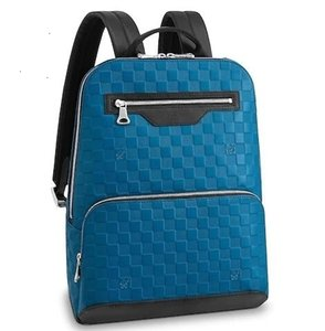 luoyuruei2018 N42428 AVENUE BACKPACK CLASSIC MEN BLUE BACKPACKS FASHION SHOWS OXIDIZED LEATHER BUSINESS BAGS HANDBAGS TOTES MESSENGER BAGS