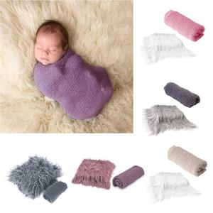 Drop Ship. 2pcs Newborn Photography Props Baby Blanket Photography Wrap Shaggy Area Rug