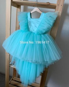 Toddler Baby Girl Tulle Flower Dress Party Gown Bridesmaid Kids Dress Christmas Party Photography Props 1-12Y