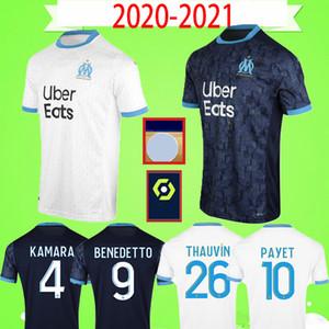 Adults mens 20 21 Olympique De Marseille soccer jersey 2020 2021 KAMARA maillot de foot BENEDETTO PAYET THAUVIN GUSTAVO football shirt