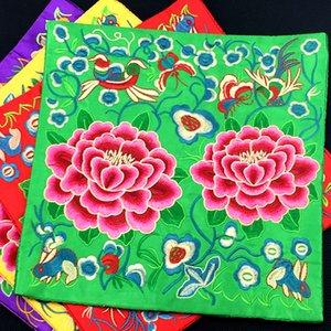 Tablo Kahve Mat geleneksel Craft Vintage Pedler Coasters Palet Paspas 26 x 26 cm Yemek Nakış Şakayık Çiçek Saten Placemat Plakalı Bowl