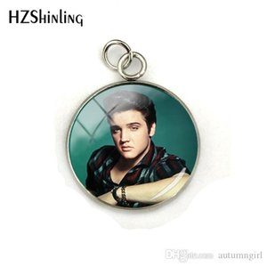 Nuovi fascini Elvis Presley Dome Cabochon Famous Star Elvis Presley gioielli rotondo di cristallo Immagine di vetro Cabochon i pendenti