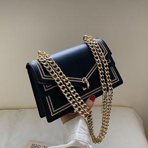 2020 Black PU Leather Chain Bag Design Crossbody Bags Women Small Chain Handbag Small Bag Hand Bag Ladies Designer Evening Bags