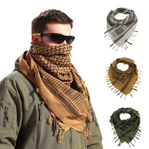 Outdoor Tactical Scarf Shemagh Militar Arab Desert Scarve Women Men Tassel Hijab Mask Scarf Windyproof Bandana for Hiking Travel