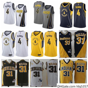 hommes IndianaPacers 31 Miller 4 Oladipo Fanatics Joueur Branded Or rapide Pause Jersey - Mention d'édition