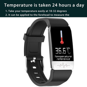 Smart bracelet watch Wristband Body Temperature Blood Pressure Heart Rate Monitor for Android iOS Fitness tracker sleep monitor