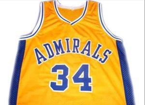 Benutzerdefinierte Männer Jugend Frauen Jahrgang ## 34 Kevin Garnett ADMIRALS College Basketball-Jersey-Größe S-6XL oder benutzerdefinierten beliebigen Namen oder Nummer Jersey