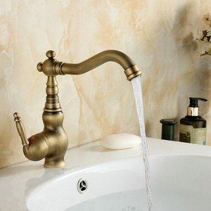 Cheap Antique Brass Swivel Basin Sink Mixer Tap Crane Kitchen Faucet B2002