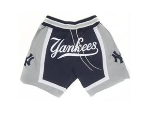 Nova yorkYankeesOs homens simplesmente DON por Mitchell Ness beisebol Shorts bolso da calça S-2XL