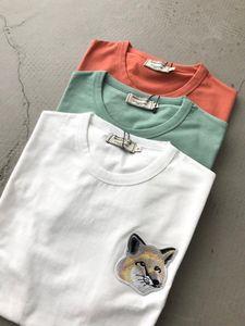 19ss Maison Stylist Fox Printed Men Shirt T Women T Summer Fashion Kitsune Tee Casual Sleeve Embroidery Street Short Shirt HFHLTX024 Wqhrd