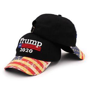 Trump 2020 Hat USA Flag Baseball Cap Uomini Donne Snapback Hats ricamo Bone unisex Trump Snapback Caps OOA8199
