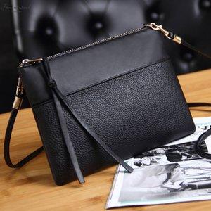 Coofit Womens Clutch Bag Simple Black Leather Crossbody Bags Enveloped Shaped Small Messenger Shoulder Bags Big Pu Sale Female Bag