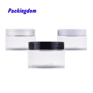 10pcs Container Cosmetic Jar Pot Plastic Travel Bottle Cookie Storage Portable Clear Empty Mask Packing 100g 150g 200g 250g 350g