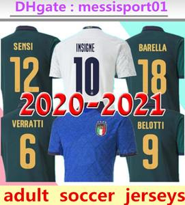 2020 2021 ITALIE maison Coupe d'Europe à l'extérieur troisième football Jersey 20/21 CHIELLINI EL Shaarawy BONUCCI INSIGNE BERNARDESCHI Italie FOOTBALL