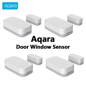 Youpin Оригинал Aqara двери окна Датчик Zigbee Беспроводное подключение датчик двери Мини Микропроцессорные датчики для контроля App