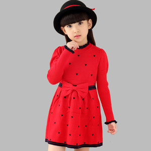 Girls Dresses Long Sweater Dresses For Girls Spring Autumn Teenage Party Dresses 2 4 6 8 9 10 12 14 Years Girls Clothes S200113