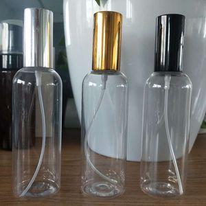 DHL 30 50 Parfüm 100ML Sprühflasche PET tragbare kosmetische Probepackung Flasche transparenter Kunststoff