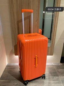 Чемоданы Высокое качество PC Anti-износа Материал TSA Таможенный замок Утолщенные алюминиевого сплава Чемодан Угол большой емкости Чемоданы авиации Boxe