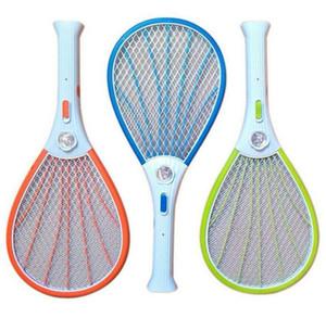 Hot zanzariere Swatter dell'insetto Mosca elettrica Zapper della mosca dell'insetto Racket ricaricabile con la torcia elettrica LED della famiglia Pest Control DHA131
