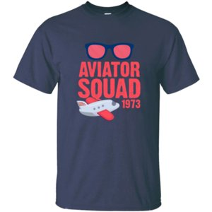 Casual Aviator Squad Sunglasses 1973 Retro T Shirt 100% Cotton Anti-Wrinkle Crew Neck Solid Color Men T-Shirts Tee Top