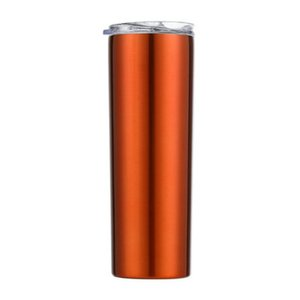 2020 Skinny Tumblers Stainless Steel Drinking Cup With Straw Double Wall Vacuum Insulation Cup Straight Portable Coffee Mug A04 From bwkf US