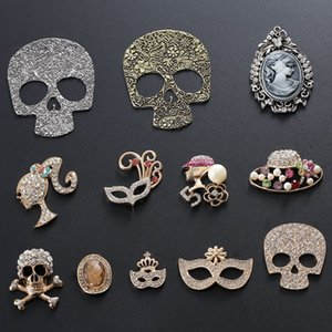 Antique skull gun Black Ghost Head plum blossom mask diy Diy mobile Accessories mobile phone phone shell accessories alloy material