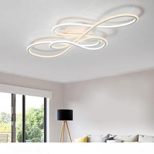Double moderne Glow lumières LED de plafond pour vivre des luminaires de plafonniers gradation escalier chambre chambre d'éclairage intérieur