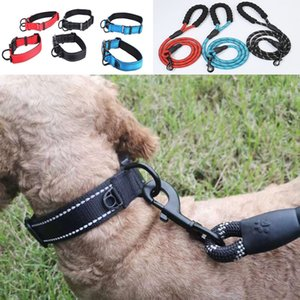 Pet night reflective necklace, rope pulling necklace, pet telescopic dog collar Recall Track STRAP good quality free shipping