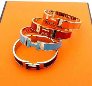 Hot style fashion simple design 12MM wide bracelet H letter link bracelet for men and women