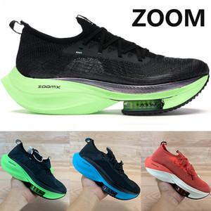 zoom alpha hommes femmes chaussures de course voler à côté% noir vert électrique tournée de race blanche pastèque université jaune Knit rouge Hommes Chaussures
