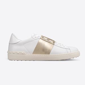 Благородный Trend Платформа Дизайнер Мужчины Женщины Повседневная обувь класса люкс Lovers Белая кожа кроссовки Lovers Довольно обуви Sneaker