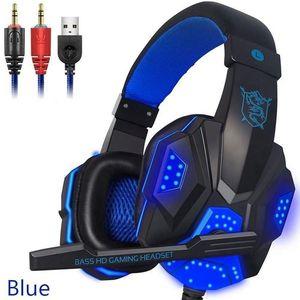 Bilgisayar PC Gamer için mikrofon LED ışık ile PC780 Gaming Headset Kulaklık Kablolu Gamer Kulaklık Stereo Ses Kulaklık