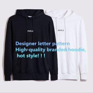 Fashion Frauen Männer Strickjacke Hoodies Langarm für Herbst-Winter-Baumwollmischung Lässige Kontrast-Farben-Kleidung mit Letter-Muster