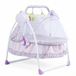 835 Infant Bed Cradle Electric Intelligent Automatic Foldable Baby Infant Bassinet Newborns with Mosquito Net Cradle ae6U#