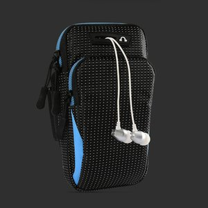 6.5 inch sports running arm bag gym fitness wrist bag starry appearance jogging exercise mobile phone bag key money card