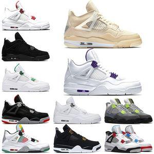 Nike Air Jordan 4 Retro 4 OG Bred für 2019 Männer-Basketball-Schuhe 4s Cool Gray Pale Citron Mens Trainer athletischer Sport-Turnschuh Online-Verkauf Größe 41-47