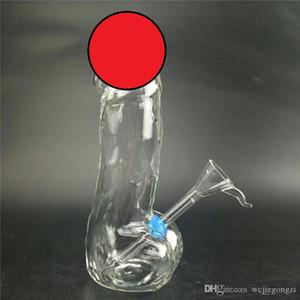 Alta qualità USA pene maschile tubo di acqua di vetro Bong 20cm Cancella Oil Rigs Dab estraibile Downstem GIOCO Pipe ad acqua in vetro per fumare