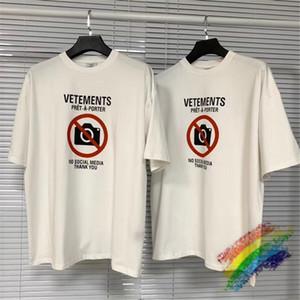 2020FWss T-shirt blanc Hommes Femmes 1 de haute qualité T-shirts Hauts Tee Vtee