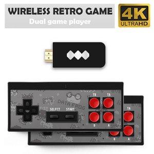Y2 HD Nostalgic Game Console USB Wireless Handheld TV Video pode armazenar 568/600 Jogos clássicos dupla jogador HDMI Retro Gamepad Controlador