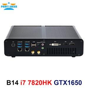 Gaming Mini PC Intel i7-7820HK GTX 1650 GDDR5 4GB 2*DDR4 M.2 NVME 2LAN Desktop Computer Win10 4K HDMI2.0 DP DVI Fiber Optic WiFi