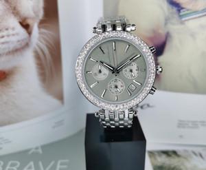 스테인레스 스틸 다이아몬드 시계 패션 손목 시계 여성은 전체 기능 시계 최고 품질의 석영 남자를 볼 드롭 배송