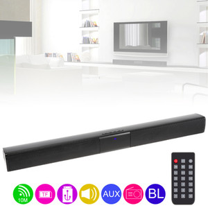 BS-28B Home Theater Surround Multi-função Bluetooth Soundbar Speaker com 4 Full Range Horns / 3.5mm AUX / interface RCA para TV